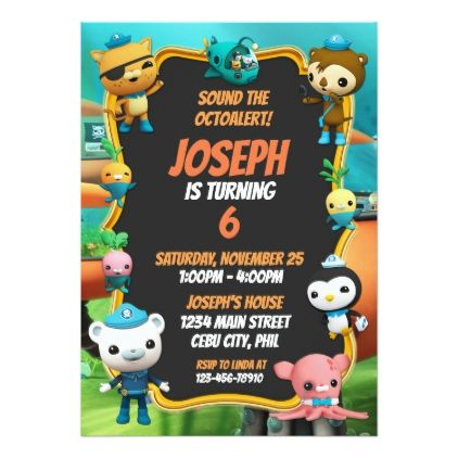 Octonauts Birthday Invitation kids birthday gift idea anniversary