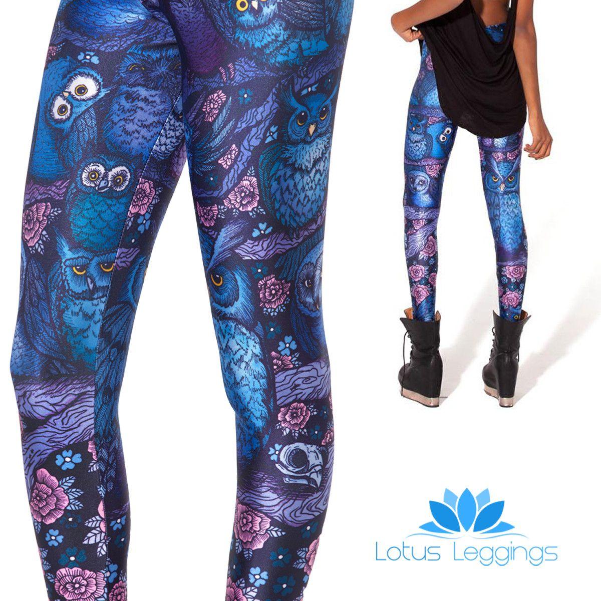 Midnight Owl Leggings My Style Pinterest Lotus Owl And