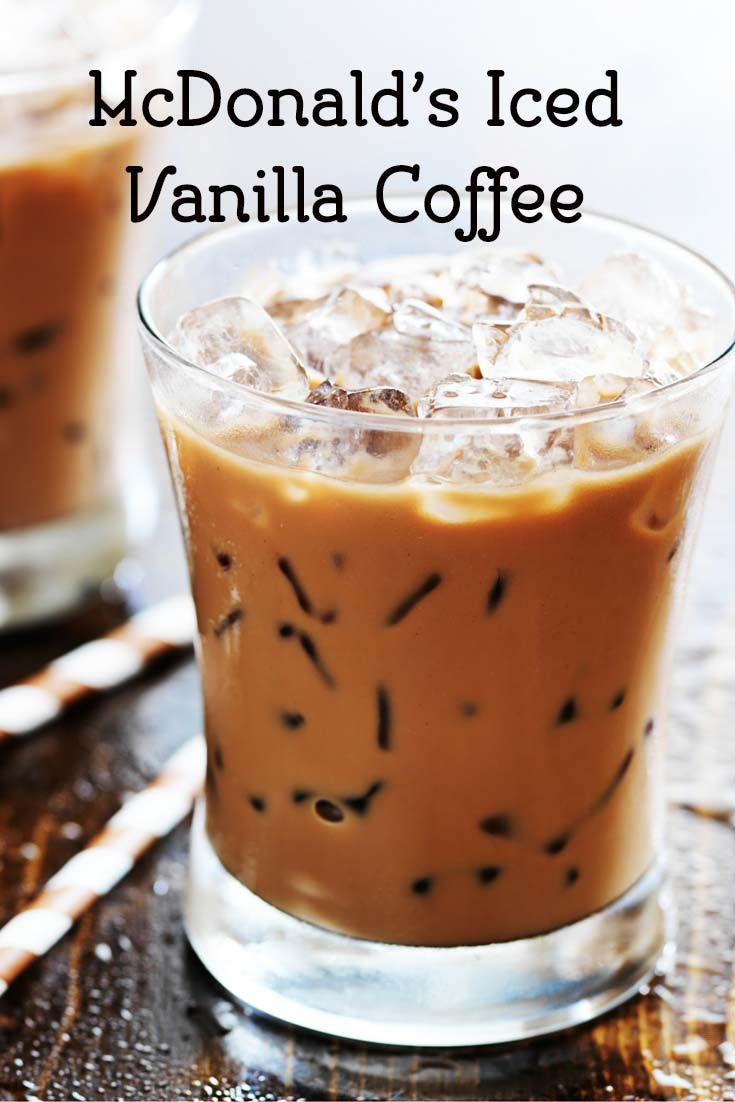McDonald's McCafe Iced Vanilla Coffee | Iced coffee drinks ...