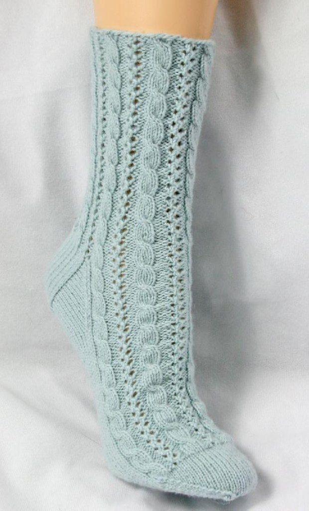 Cabled Lace Socks Knitting pattern by Chrissy Gardiner | Strickanleitungen | LoveKnitting