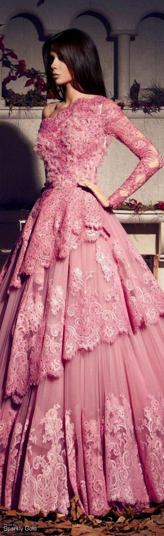 Long sleeve formal ball gowns can be used as wedding dresses by ...