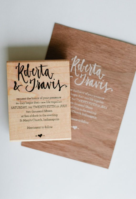Roberta Invitation Diy Rubber Stamp By Allieruth On Etsy
