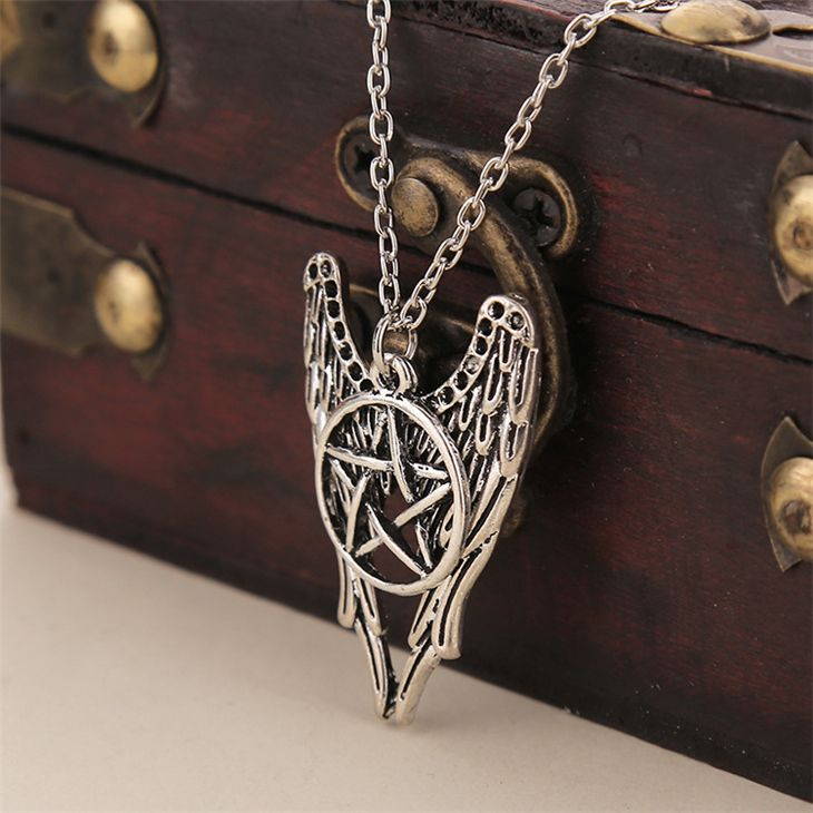 Angel pentagram amulet winchester inspire dean sam pendant necklace angel pentagram amulet winchester inspire dean sam pendant necklace supernatural aloadofball Gallery
