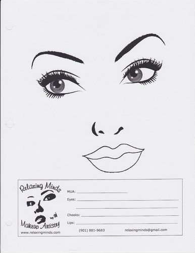 10 Blank Face Chart Templates (Male Face Charts and Female Face - blank t chart