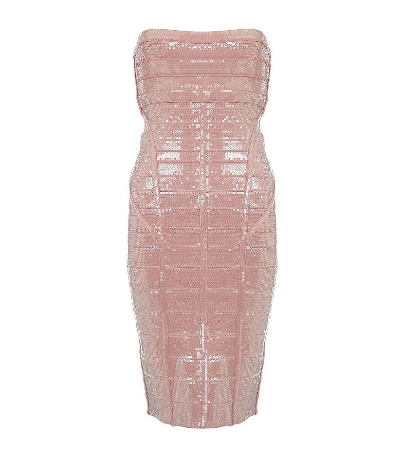 Herve Leger Frances Bandage Dress   Harrods