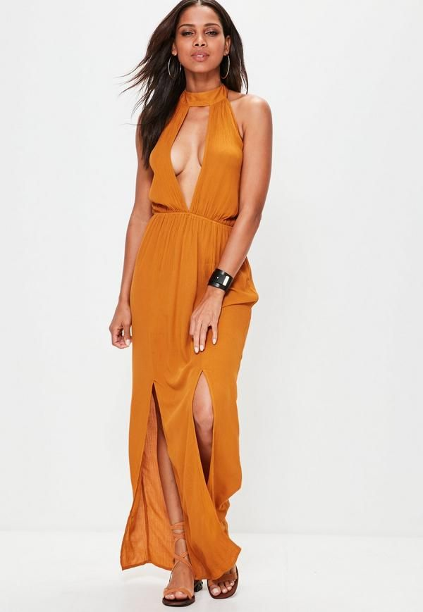 aa11c480003 Feed your need for new and add some staples to your summer wardrobe wearing  this split front maxi dress. With a cheesecloth fabric and figure  flattering ...