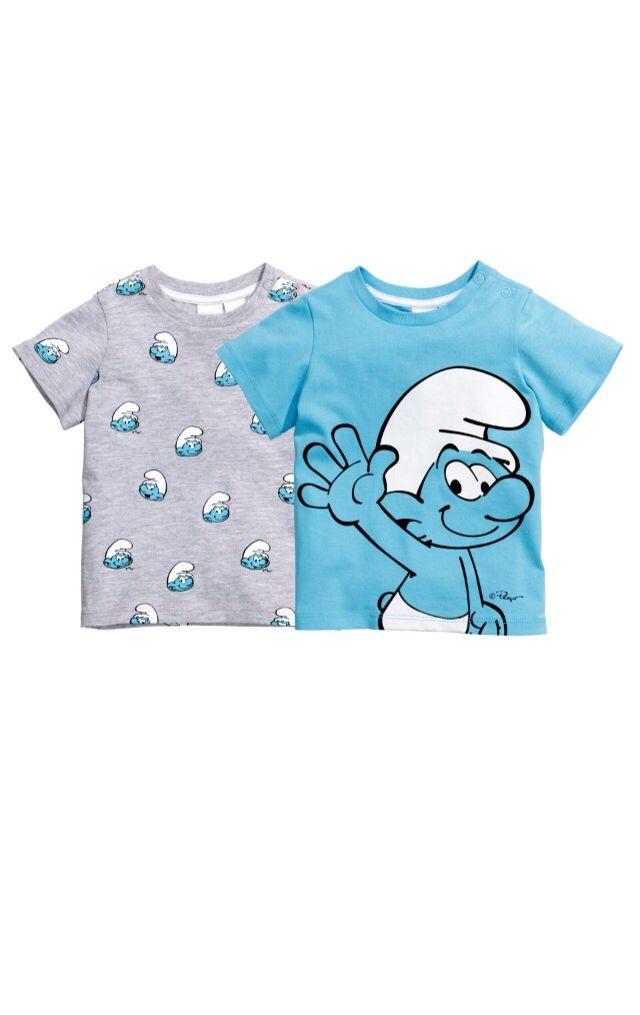 aaed24c3 H&M smurf tshirts | Baby fashion | Onesies, Fashion, Cool kids