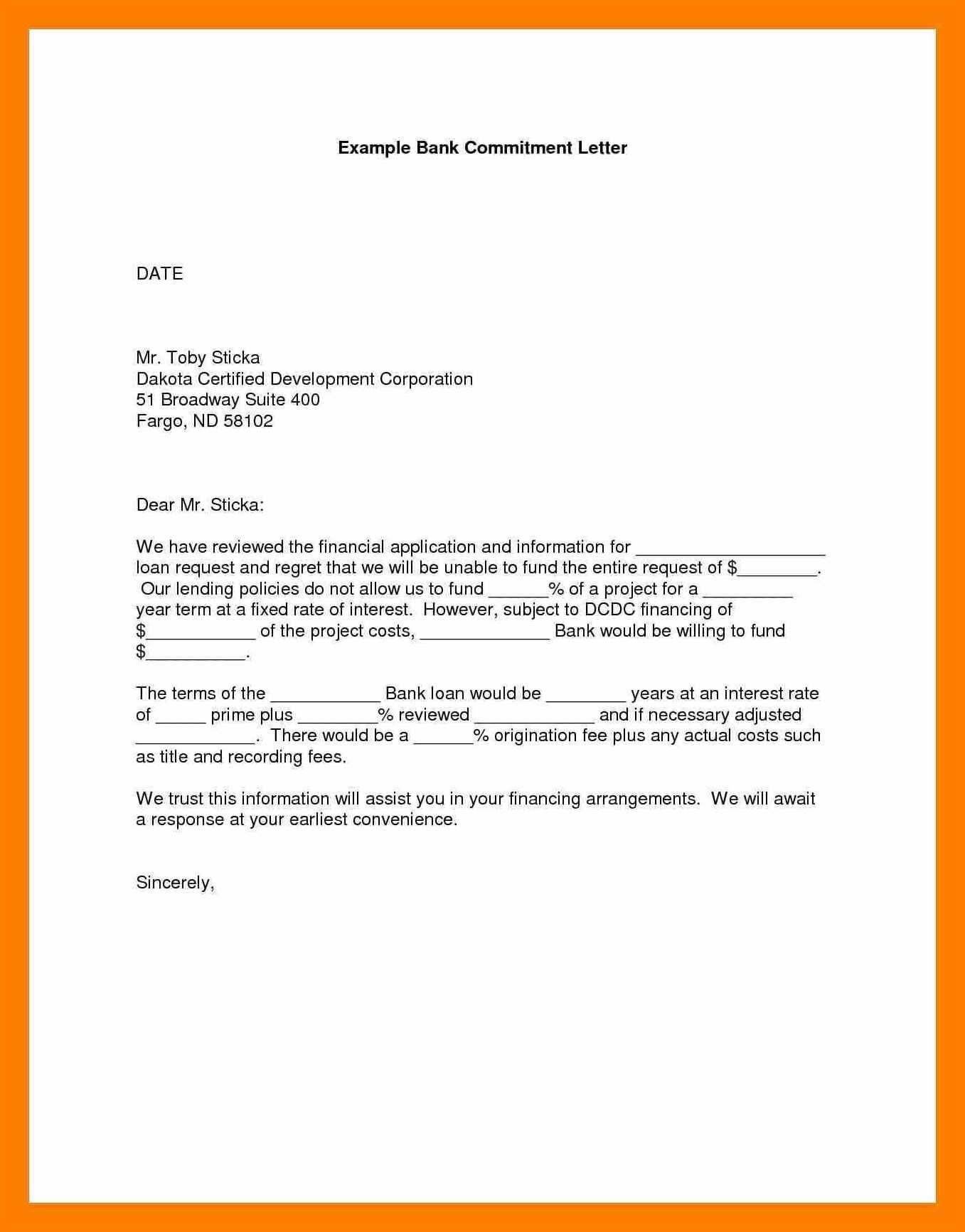 Fresh Commintment Letter Sample For You Lettering Letter