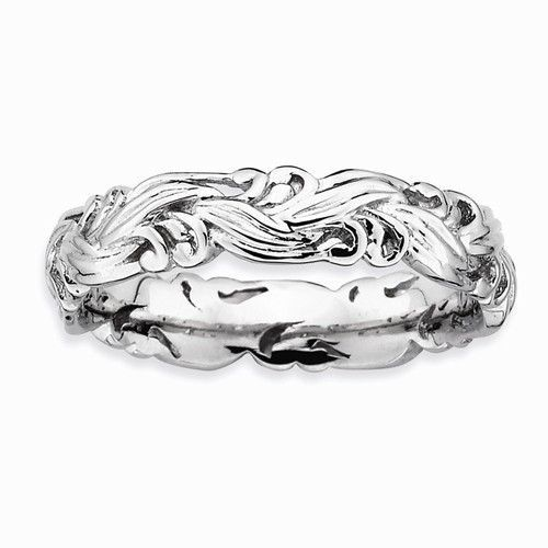 Sterling Silver Stackable Expressions Polished Ring
