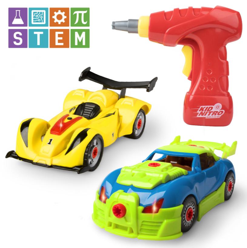 Kid Nitro Take Apart Race Car Building STEM Set with Toy