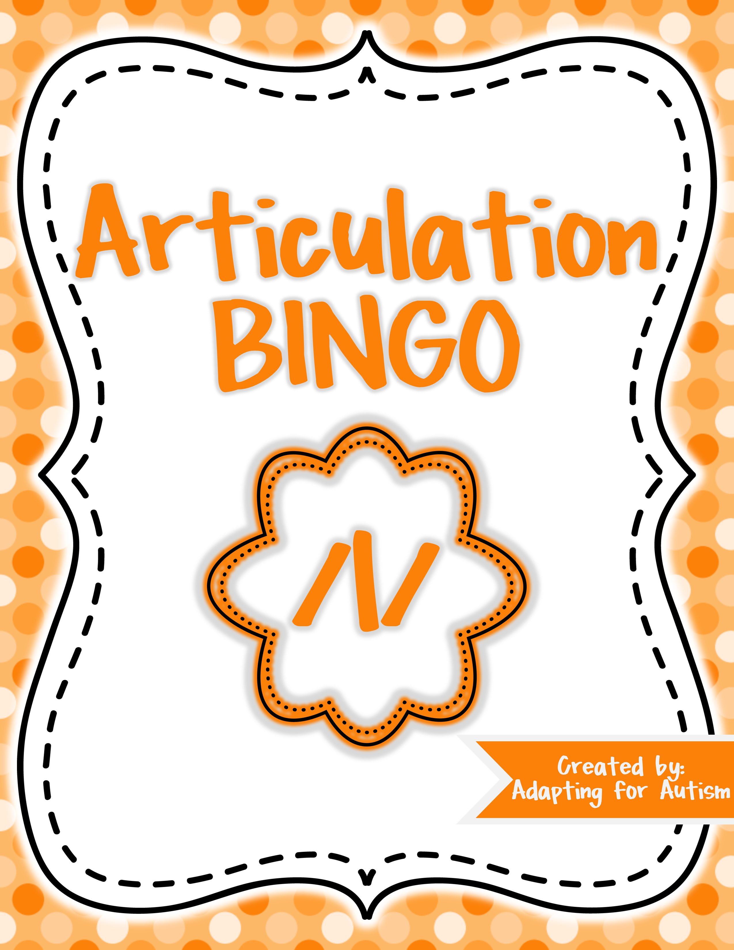 Articulation Game L Bingo For Speech Therapy