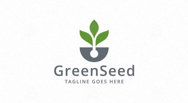 Green Seed Logo Logos Graphics Desain Logo Desain Hidroponik