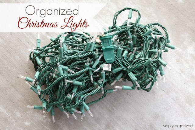 simply organized: Organized Christmas Lights