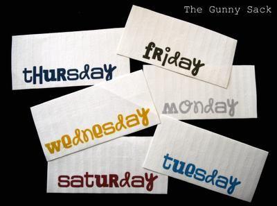 {handmade} Back to School - Organize Your Morning - The Gunny Sack