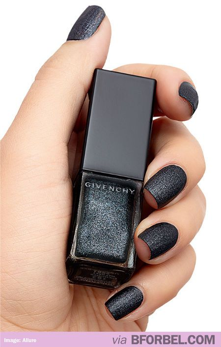 Givenchy Matte Black Glitter Nail Polish | Nails | Pinterest | Black ...