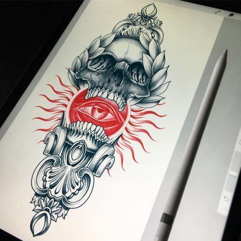 Mazur Sergey Red Tattoos Tattoo Designs Men Tattoo Drawings