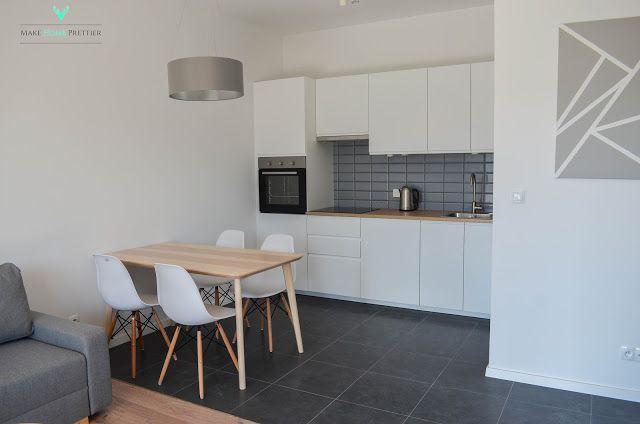 Projekt 45m2 - efekt finalny - salon z aneksem kuchennym - Make Home Prettier