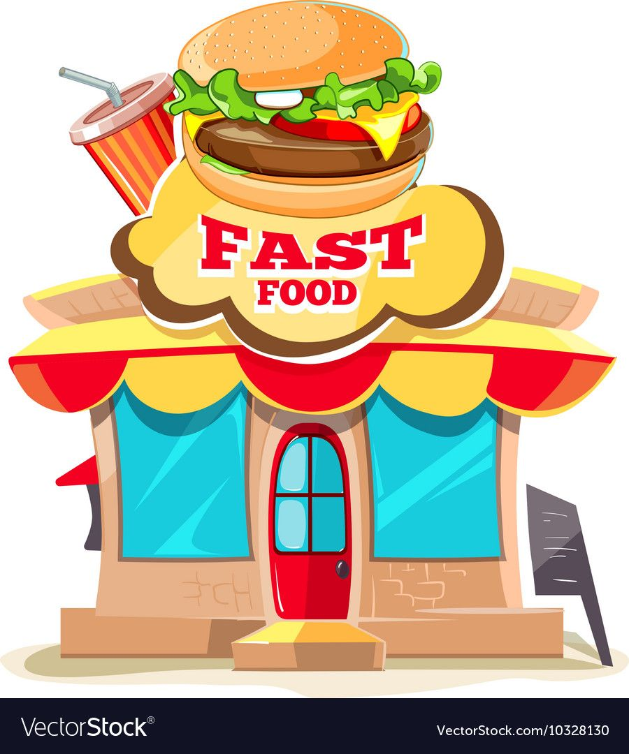 Fast food restaurant and royalty free vector image aff