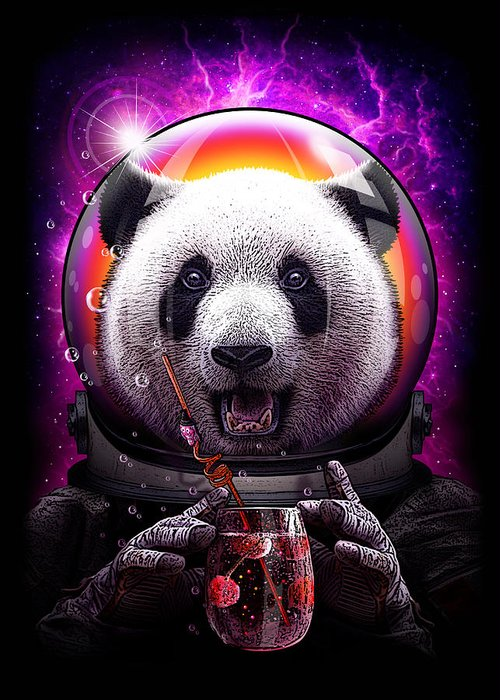 Pandanaut Greeting Card for Sale by Adam Lawless