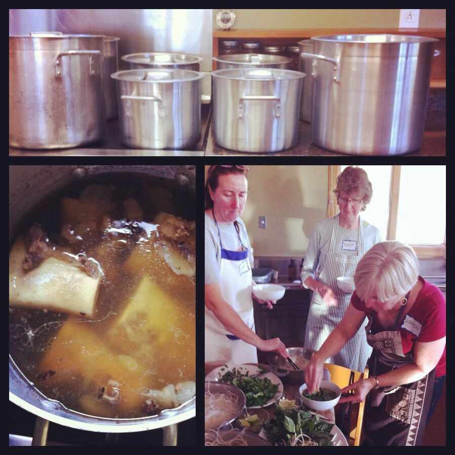 Yesterday S Pho Workshop At Love Apple Farm In Santa Cruz 16 Happy Pho Natics Brewed Up 8 Pots And Made Oodles Of Viet Noodle Dishe Vietnamese Food Cooks