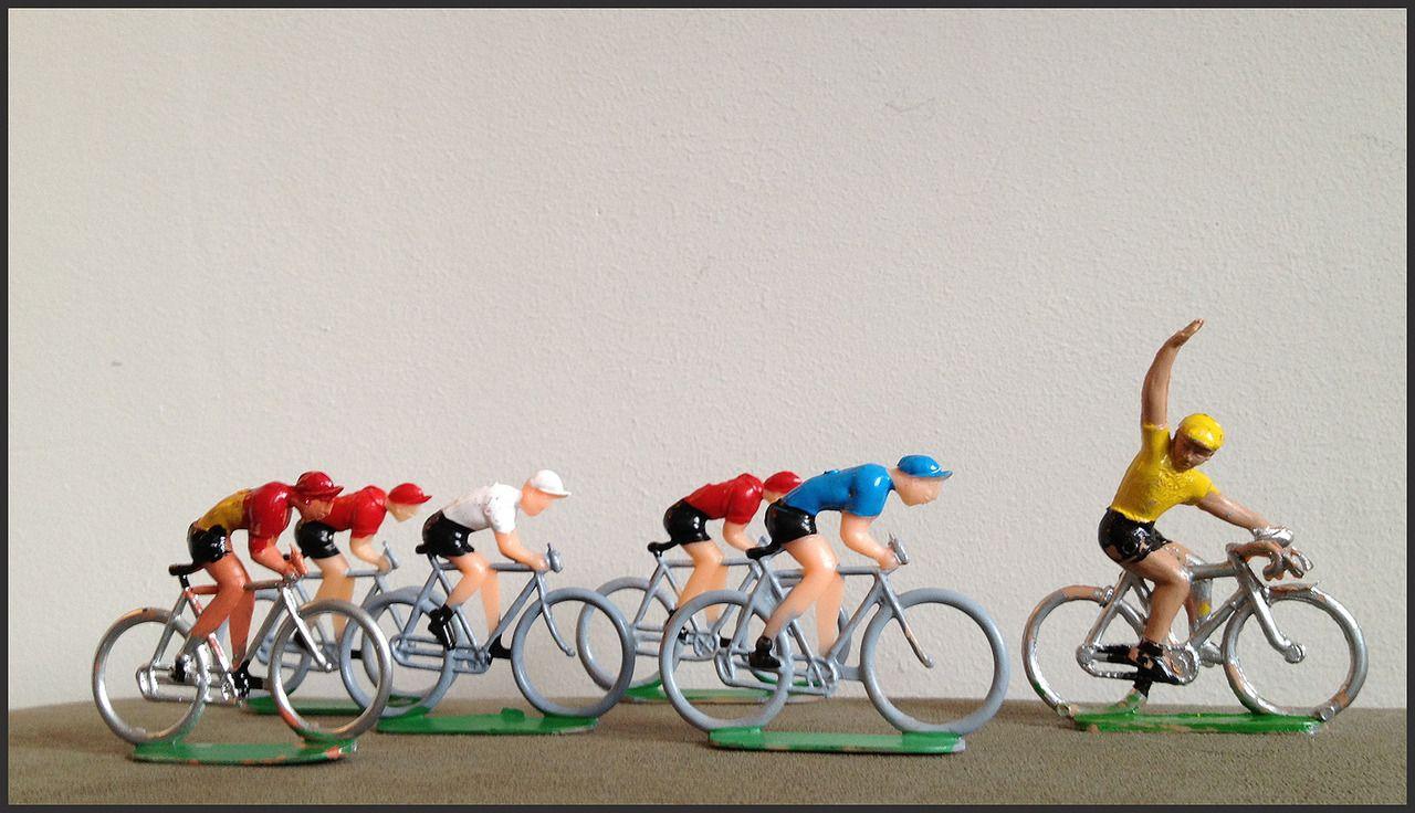 rare vintage plastic toy tour de france