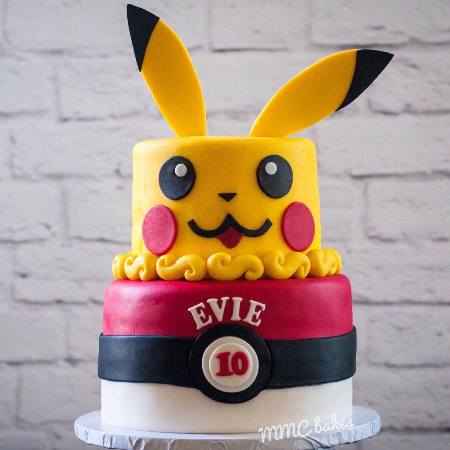 Pikachu pokemon cake fondant pokemongo cake custom cakes by mmc