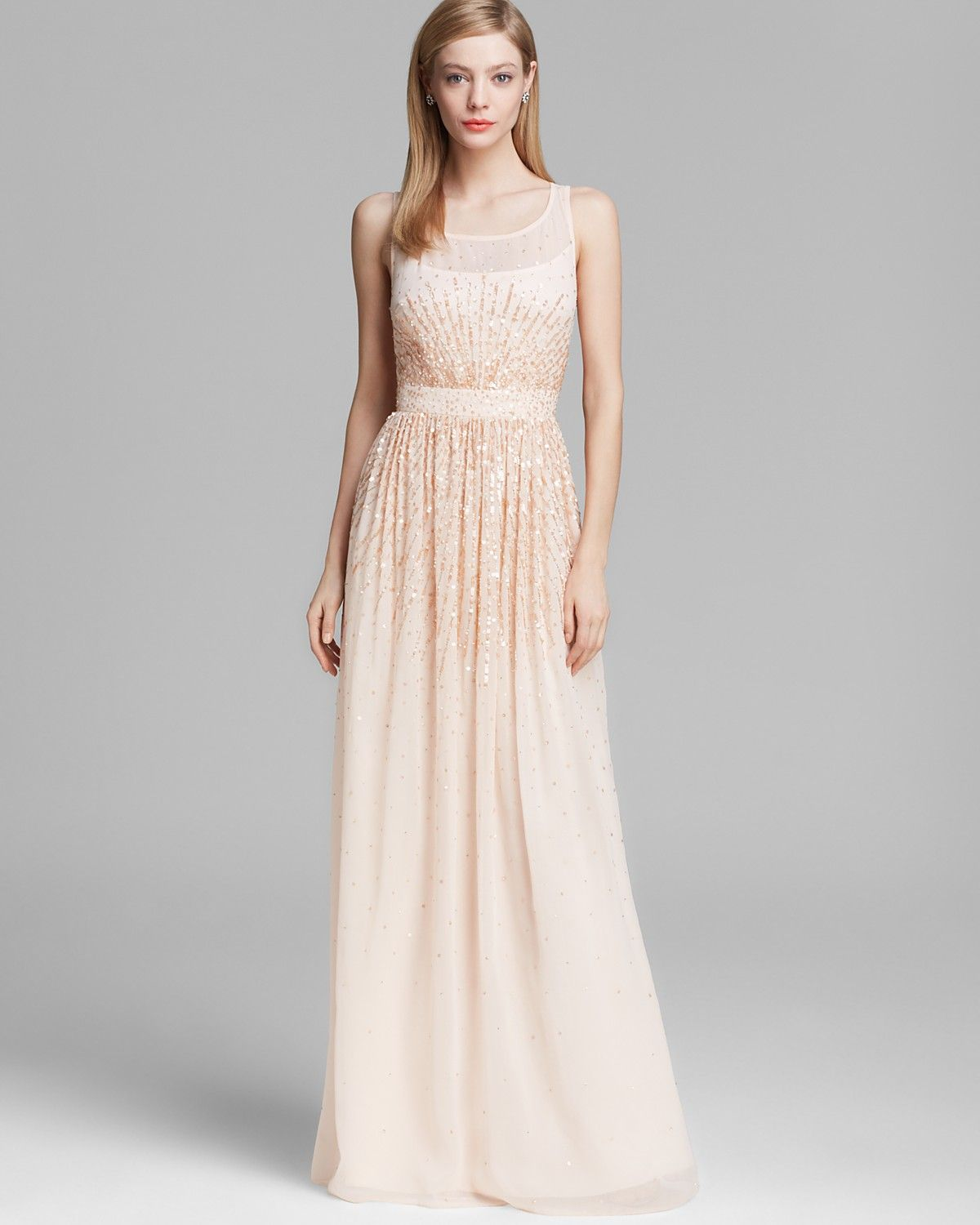 Decode 18 gown sequin placed beaded belted bloomingdales decode 18 gown sequin placed beaded belted bloomingdales sequin bridesmaid ombrellifo Images