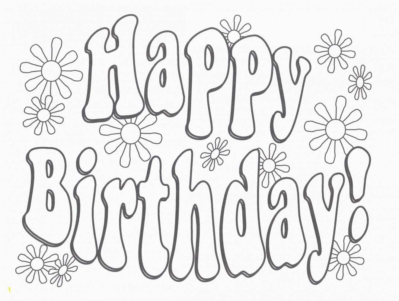 25 Amazing Picture Of Happy Birthday Coloring Page Happy