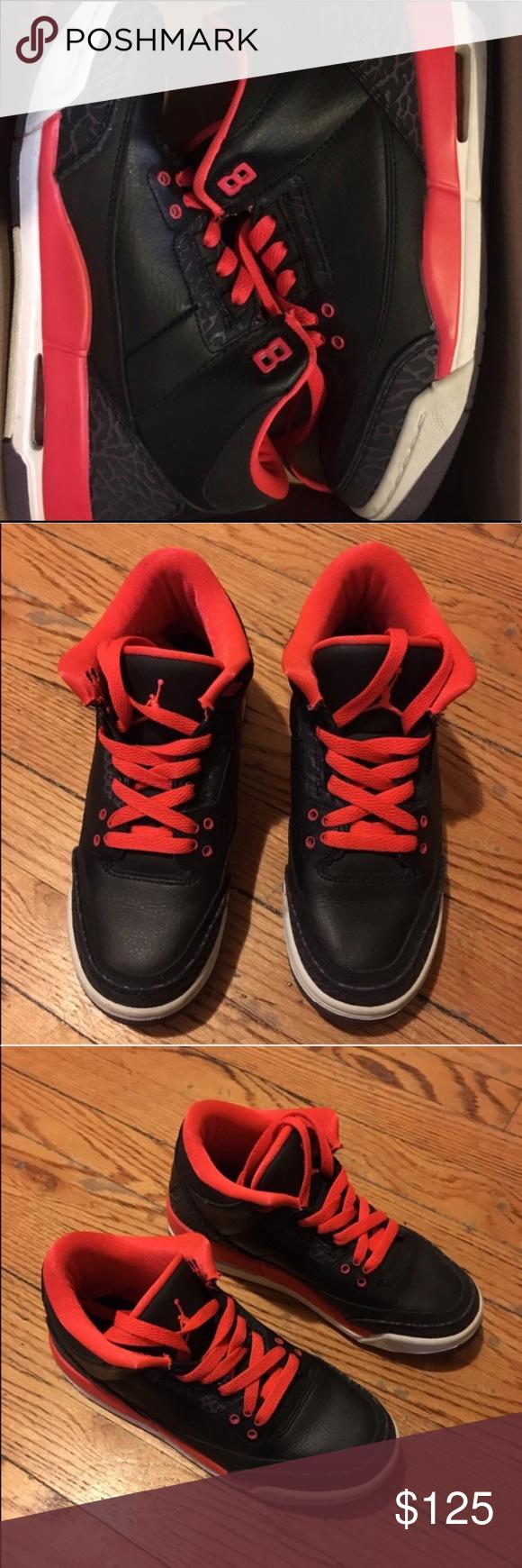 Air Jordan 3 Crimson Gs Sneakers Air jordans, Sneakers