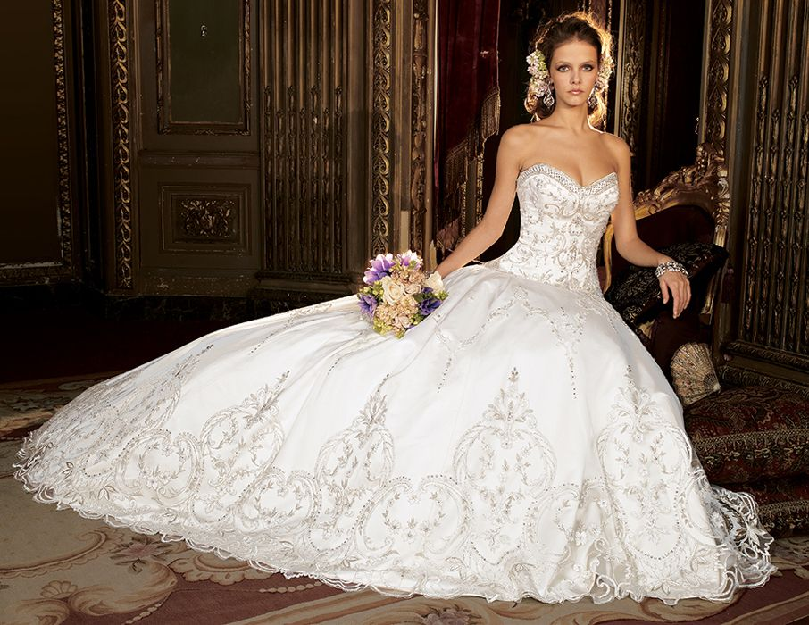 huge-beaded-ball-gown-wedding-dress-with-sweetheart-neckline ...