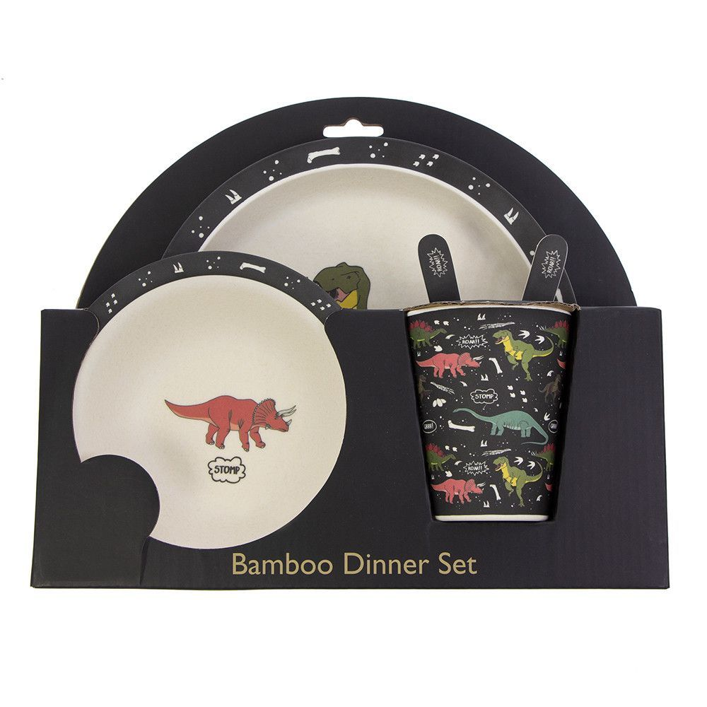 Bamboo dinosaur-patterned dinner set for kids | Dino Christmas | Natural History Museum Online Shop #historyofdinosaurs Bamboo dinosaur-patterned dinner set for kids | Dino Christmas | Natural History Museum Online Shop #historyofdinosaurs