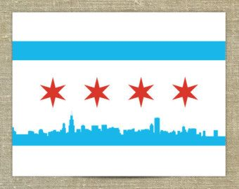 Cubs Flag Chicago Flag Art Chicago Flag Cubs Flag