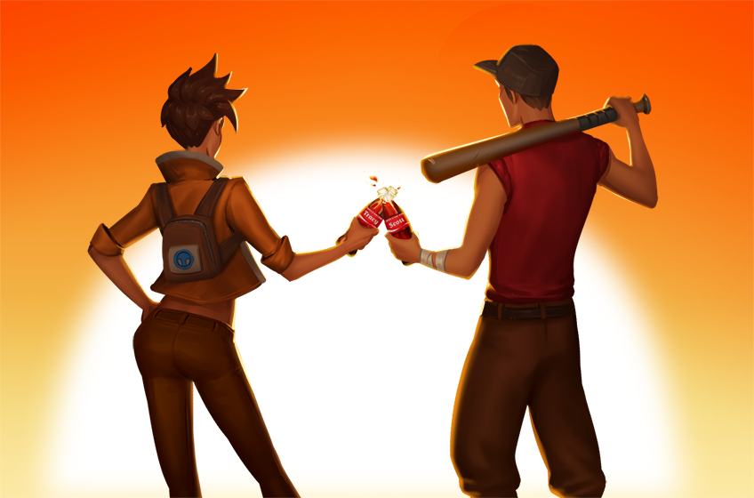 Scout Is Not Drinking Bonk 0 10 Overwatch Tf2 Scout Team Fortress