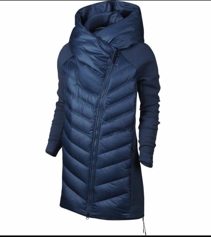 1efc02672 Nike Aeroloft 800 Down Tech Fleece Women's S Small 804976-423 Blue ...