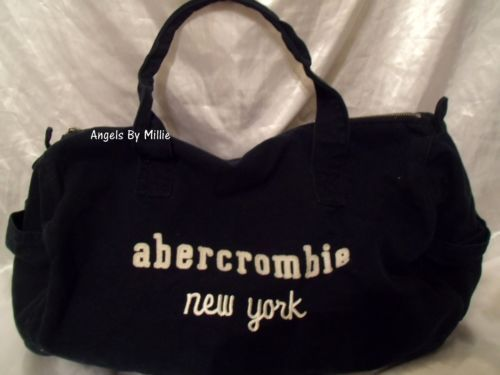 Abercrombie Fitch Blue Duffle Bag Gym Travel Overnight Navy Women S