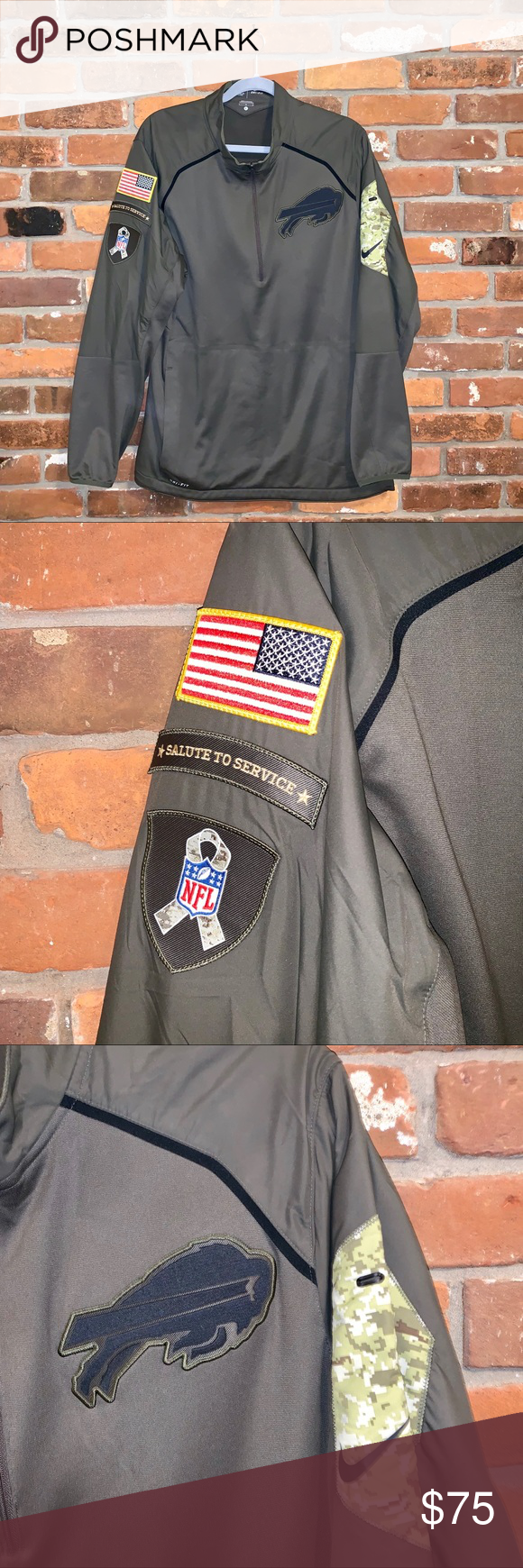 """Nike Olive Salute To Service Bills Pullover Size L Nike Olive Salute To Service Buffalo Bills 1/4 Zip Pullover  Size L Dri-Fit  23"""" pit to pit  29"""" length from shoulder to hem  Approximate measurements done laying flat  Used  Great Condition Nike Shirts Sweatshirts & Hoodies #salutetoservice Nike Olive Salute To Service Bills Pullover Size L Nike Olive Salute To Service Buffalo Bills 1/4 Zip Pullover  Size L Dri-Fit  23"""" pit to pit  29"""" length from shoulder to hem  Approximate measuremen #salutetoservice"""