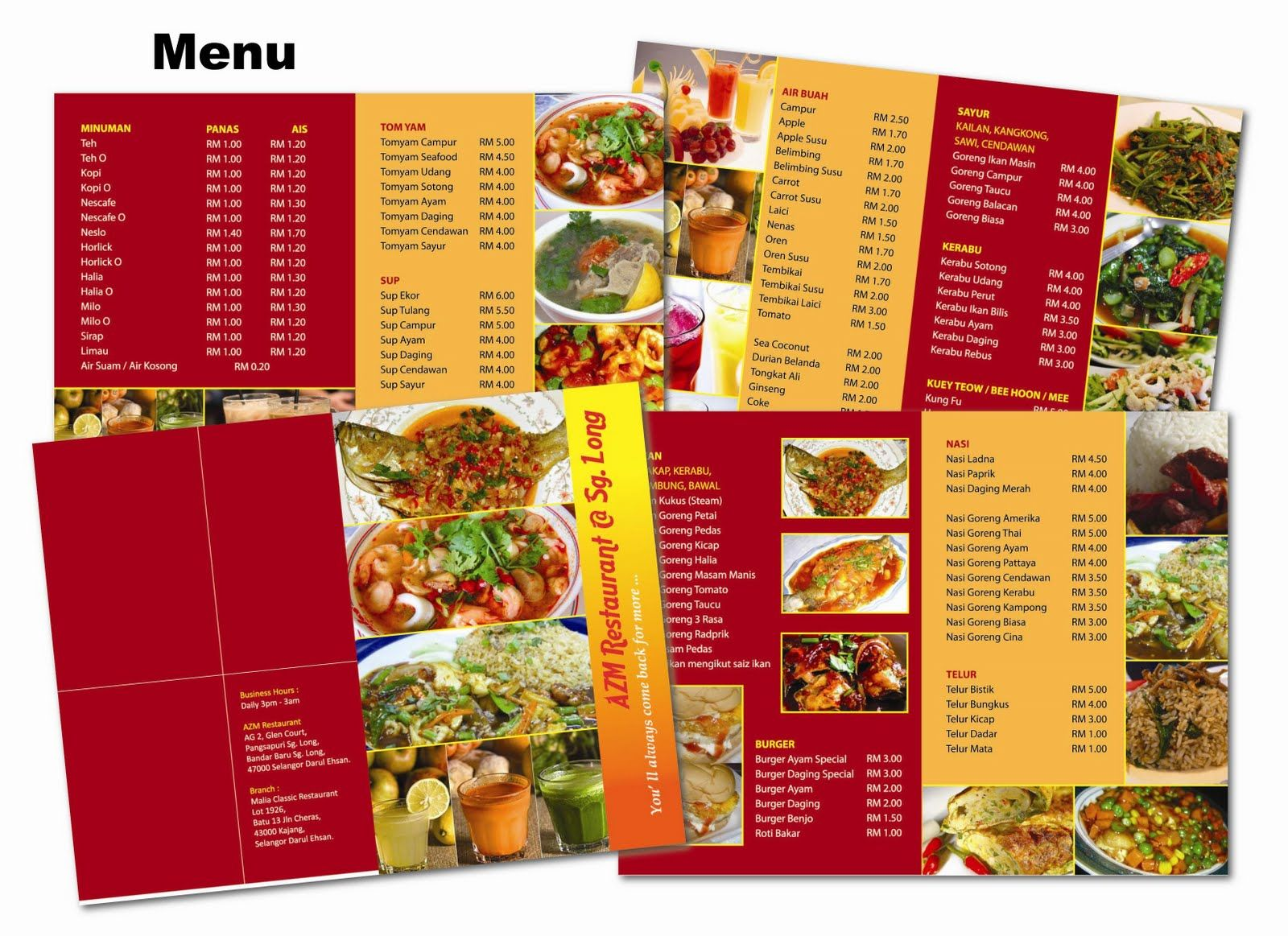Funky restaurant menu templates vector – Free Food Menu Template