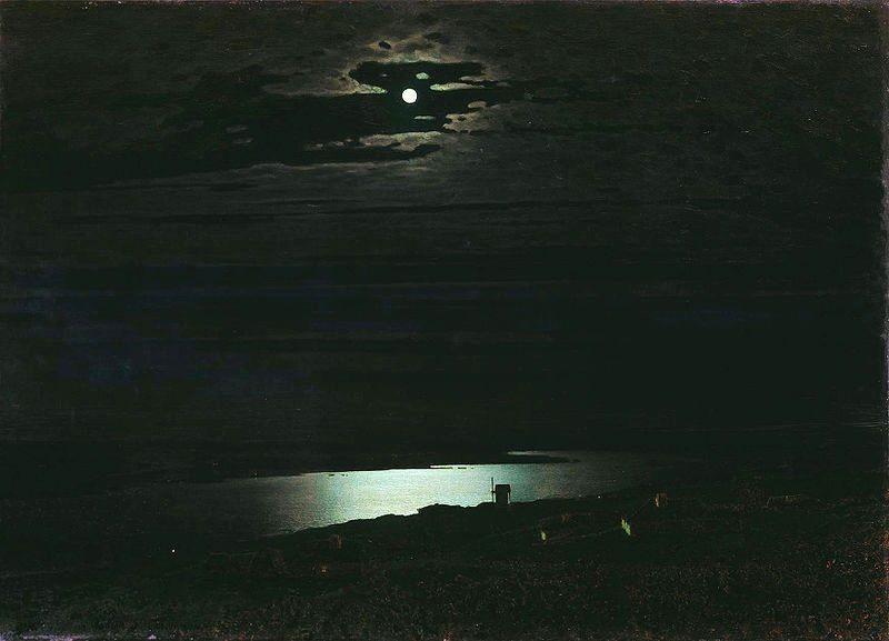 Arkhip Ivanovich Kuindzhi – Nuit au clair de lune sur le Dniepr (1880)