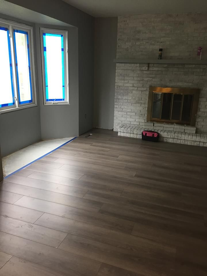 Laminate Entryway Flooring Ideas: Tore Out The Three Different Types Of Flooring (carpet