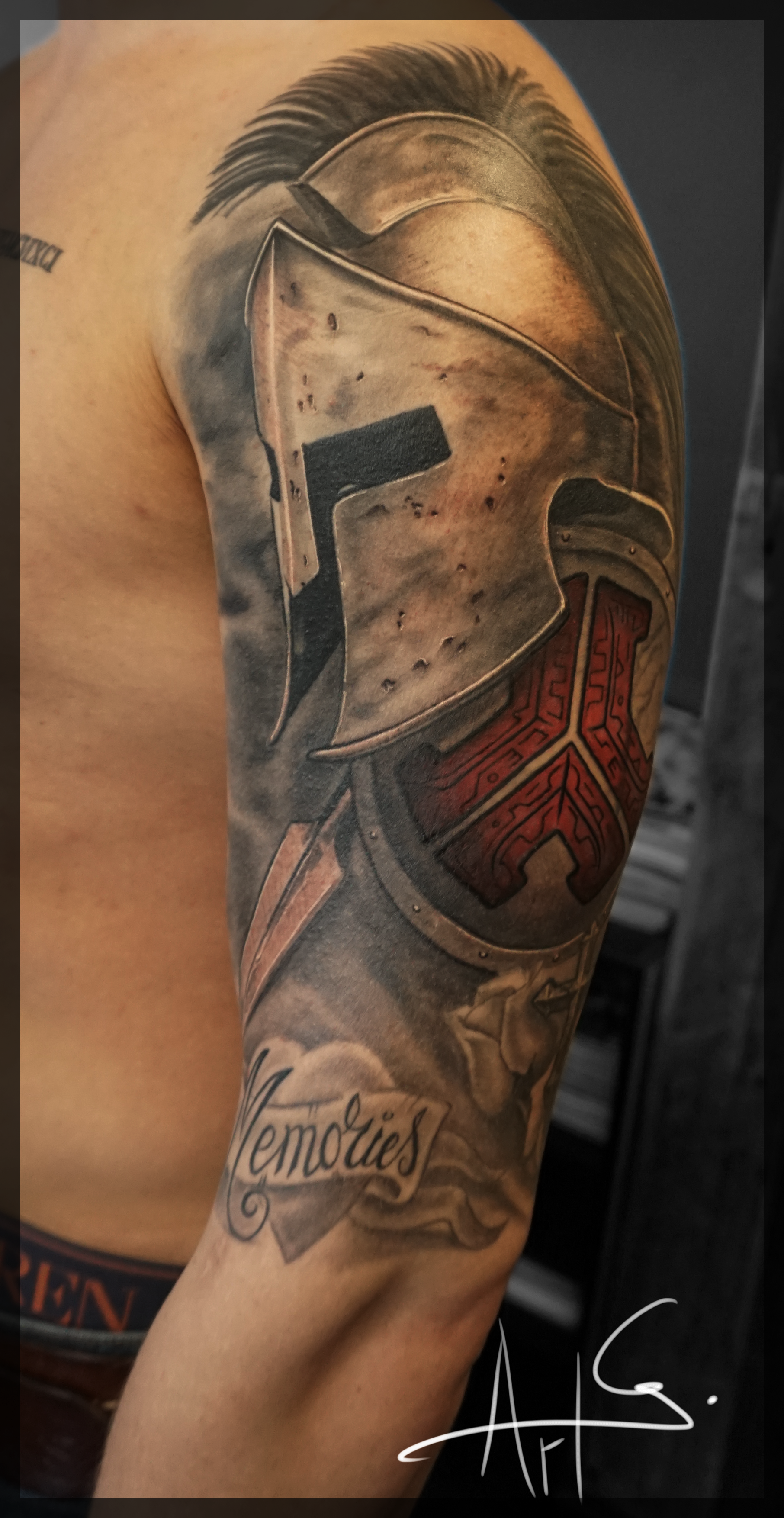 Spartan half sleeve, and some fillegree spartan