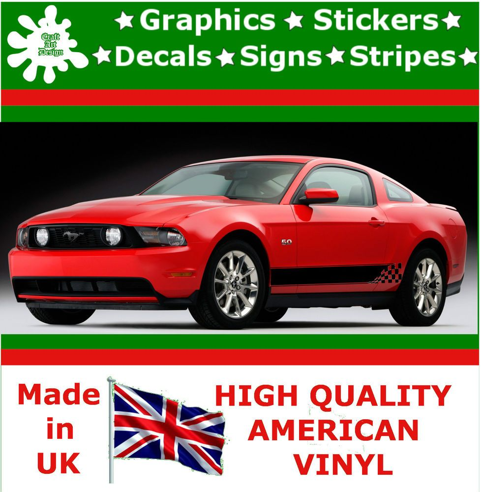 Racing Side Stripes Vinyl Decal Sticker Car Van Auto Rally - Vinyl decals for cars uk