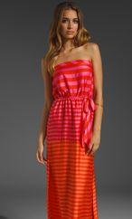 BCBGMAXAZRIA Strapless Stripe Dress