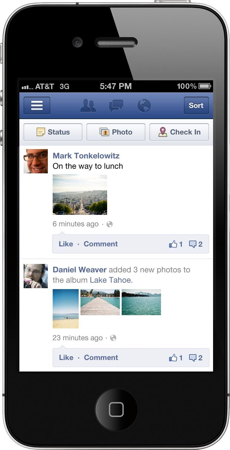 Facebook Boosts Mobile App With Bigger Photos in Your News Feed