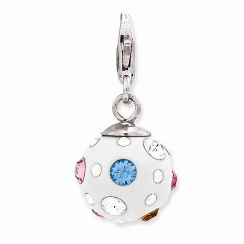 Roy Rose Jewelry Sterling Silver Amore la Vita 3-D Enameled Mom w//Lobster Clasp Charm