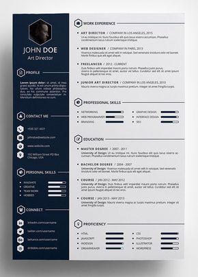 free creative resume template in psd format preparin