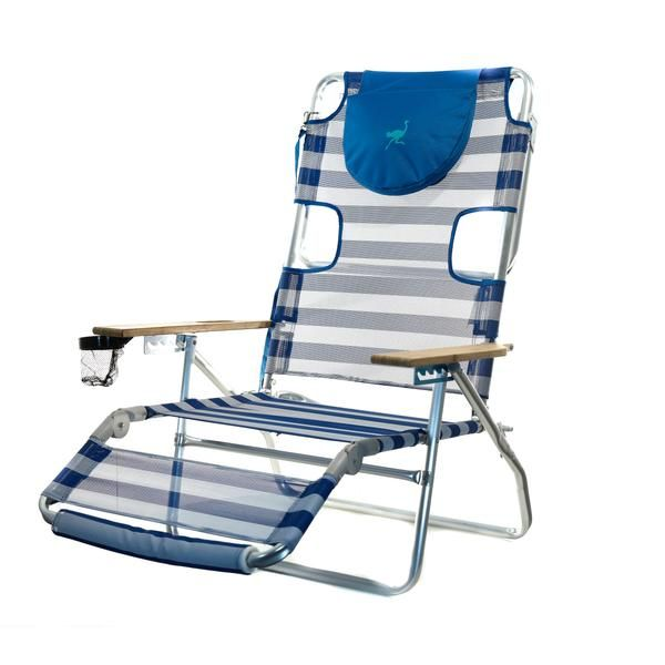 The Versatile Ostrich Chair Is A Lightweight Beach Lounger. It Allows One  To Lie On Their Back Or Stomach. It Also Easily Converts To A Reclining  Beach Chai