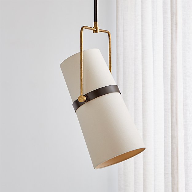Riston Adjustable Pendant Light Reviews Crate And Barrel In 2020 Brass Pendant Light Brass Pendant Lights Kitchen Adjustable Pendant Light