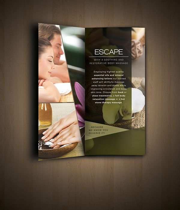 Nav Spa Brochure Design LAKA Pinterest Brochures and Layout - spa brochure