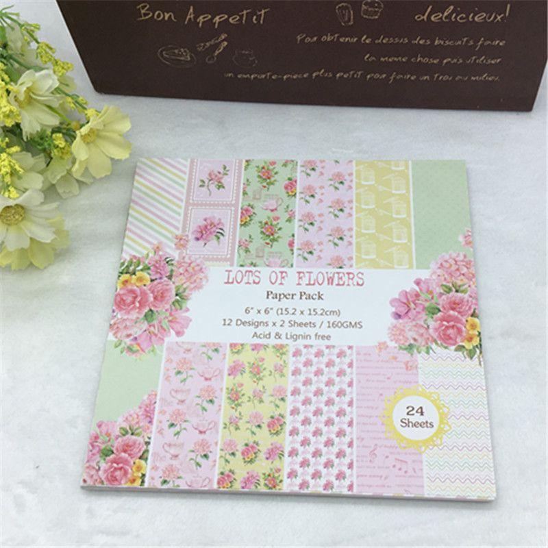 12 Sheets Flower Origami Scrapbooking Paper Art Card Making DIY Craft Supplies