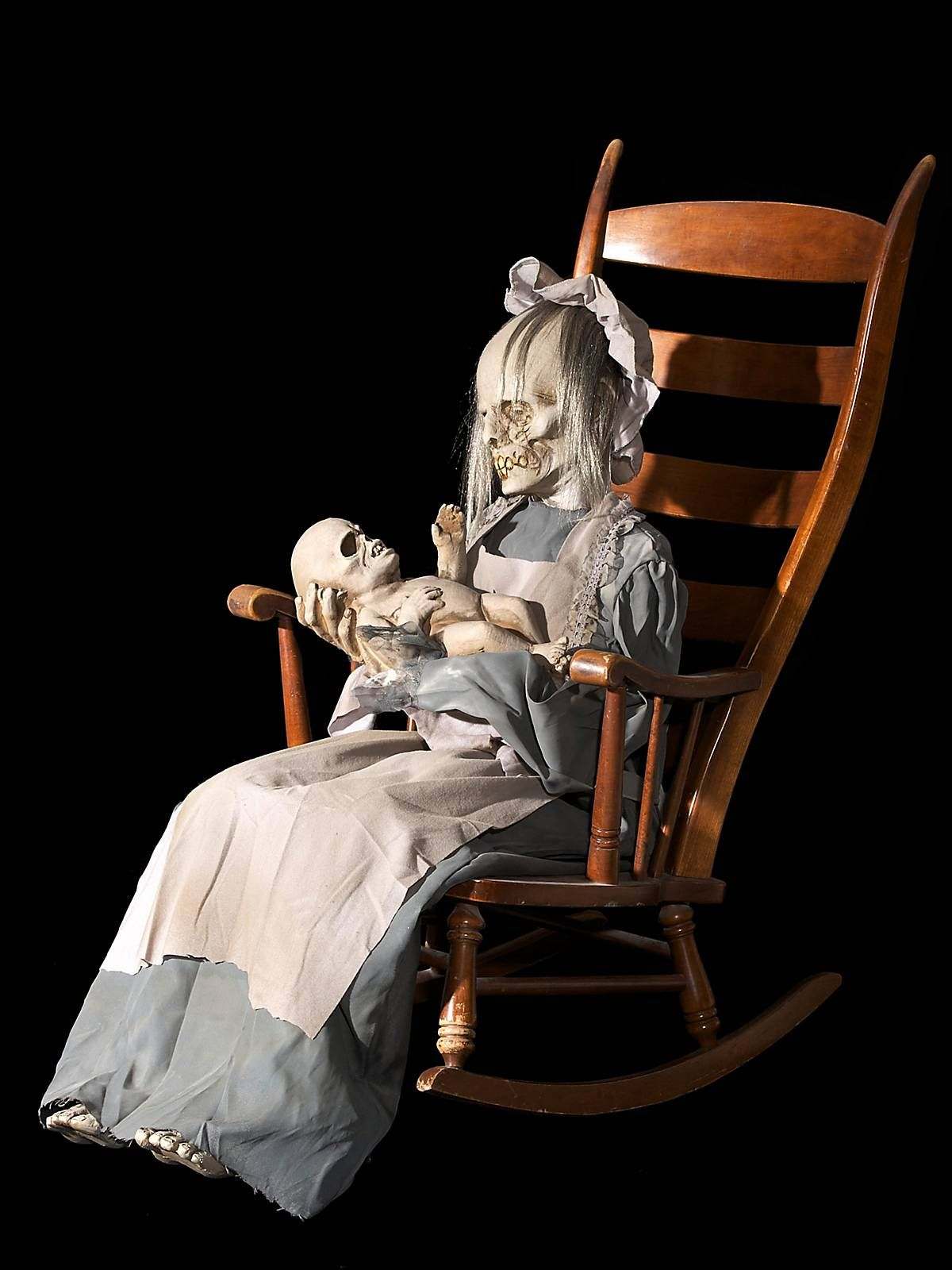 Lullaby Dead Woman and Baby Prop Animated/LightUp at